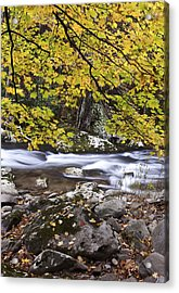 In The Distant Fall Acrylic Print by Jon Glaser