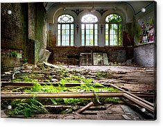 In The End Nature Always Wins - Urbex Abandoned Hotel Acrylic Print by Dirk Ercken