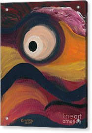 Acrylic Print featuring the painting In The Eye Of The Hurricane by Ania M Milo