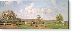 In The Fields Acrylic Print by Camille Pissarro