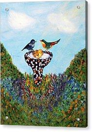 In The Garden Acrylic Print by Ann Ingham