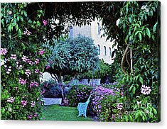 In The Garden At Mount Zion Hotel  Acrylic Print