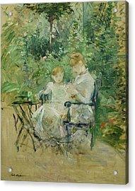 In The Garden Acrylic Print by Berthe Morisot