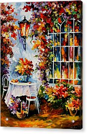In The Garden Acrylic Print by Leonid Afremov