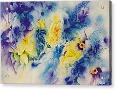 In-the-garden Acrylic Print by Nancy Newman