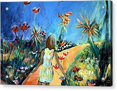 In The Garden Of Joy Acrylic Print by Winsome Gunning