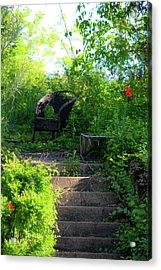 In The Garden Acrylic Print by Teresa Mucha