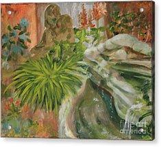 In The Garden Acrylic Print by Terri Thompson