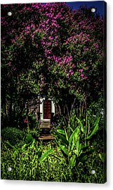 Acrylic Print featuring the photograph In The Garden - The Hermitage by James L Bartlett