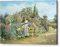 In The Garden Acrylic Print by William Ashburner