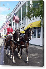 In The Grand Mackinac Manner Acrylic Print by Charles  Ridgway