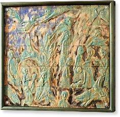 In The Green Mist Acrylic Print by Raimonda Jatkeviciute-Kasparaviciene