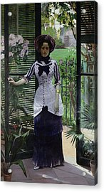 In The Greenhouse Acrylic Print by Albert Bartholome