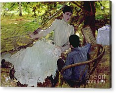 In The Hammock II, 1884 Acrylic Print by Giuseppe Nittis