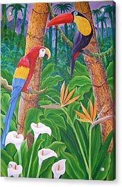 In The Jungle Acrylic Print by Jubamo