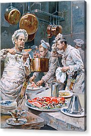 In The Kitchen Acrylic Print by G Marchetti