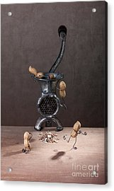 In The Meat Grinder 01 Acrylic Print by Nailia Schwarz