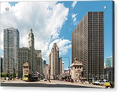 In The Middle Of Wacker And Michigan Acrylic Print