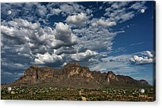 Acrylic Print featuring the photograph In The Midst Of The Superstitions  by Saija Lehtonen