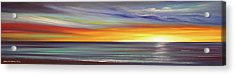 In The Moment Panoramic Sunset Acrylic Print by Gina De Gorna