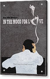 In The Mood For Love Minimalist Alternative Movie Poster Acrylic Print by Ayse Deniz