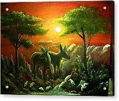In The Morning Light Acrylic Print by M bhatt
