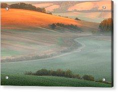 In The Morning Mist Acrylic Print by Piotr Krol (bax)