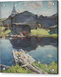 In The North Acrylic Print by Abram Arkhipov