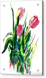 In The Pink Tulips Acrylic Print
