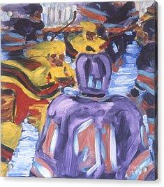 In The Play Acrylic Print by Ken Yackel
