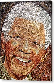 Nelson Mandela - In The Pyramid Of Our Minds Acrylic Print