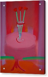 Acrylic Print featuring the painting In The Red Room by Charles Stuart