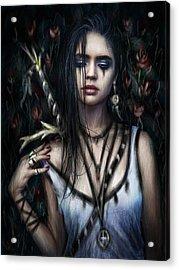 In The Rose Garden Acrylic Print by Justin Gedak