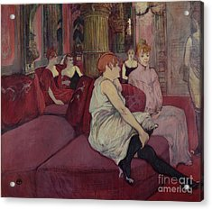 In The Salon At The Rue Des Moulins Acrylic Print