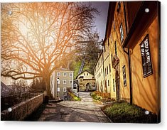 Acrylic Print featuring the photograph In The Shadow Of Salzburg Castle  by Carol Japp