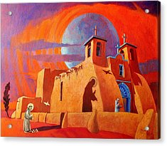 Acrylic Print featuring the painting In The Shadow Of St. Francis by Art West