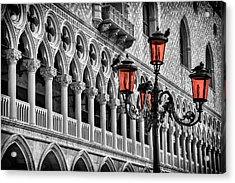 In The Shadow Of The Doges Palace Venice Acrylic Print