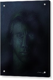 In The Shadows Of Despair Acrylic Print by Arline Wagner