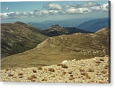 In The Snowy Mountains Acrylic Print by Adrianne Wood