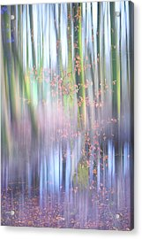 In The Spring Woods. Impressionism Acrylic Print by Jenny Rainbow