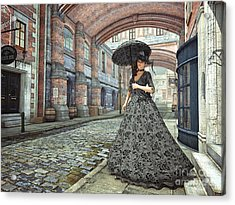 In The Streets Of Old London Acrylic Print by Jutta Maria Pusl