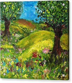 Acrylic Print featuring the painting In The Summer by Evelina Popilian