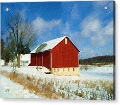 In The Throes Of Winter Acrylic Print by Sandy MacGowan