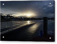 Acrylic Print featuring the photograph In The Wake Zone by Laura Fasulo
