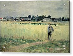 In The Wheatfield At Gennevilliers Acrylic Print