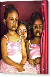In The Wings Acrylic Print by Marcella Muhammad