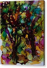 In The Woods Acrylic Print by Alika Kumar