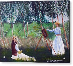 In The Woods At Giverny Acrylic Print by Luis F Rodriguez