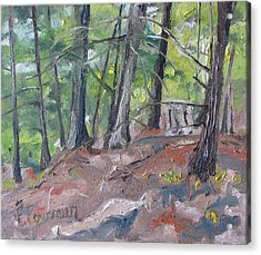 In The Woods No2 Acrylic Print by Francois Fournier