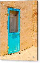 In Through The Blue Door Acrylic Print